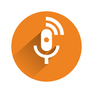 Orange microphone icon